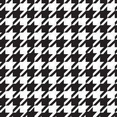 Houndstooth seamless pattern black and white