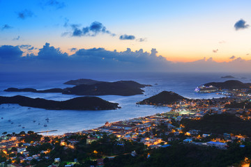 Fototapete - St Thomas sunset
