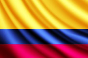 Waving flag of Columbia, vector