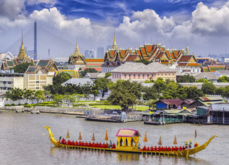Poster Bangkok Landscape of Thai's king palace