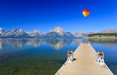 Canvas Prints Natural Park The Jackson Lake in Grand Teton