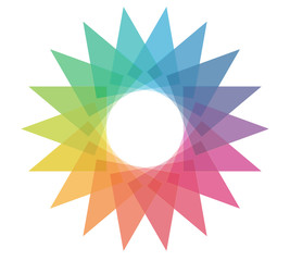 Abstract colorful wheel