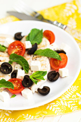 Greek chicken cutlets with feta cheese