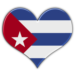 Heart with flag of Cuba