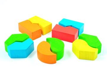 Matching Blocks isolated on White Background