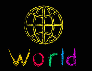 illustration of the world