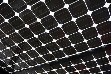 Close up of Solar Panel as abstract background pattern image
