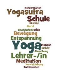"Wortwolke ""Yoga"""