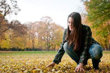 Young woman in fall season