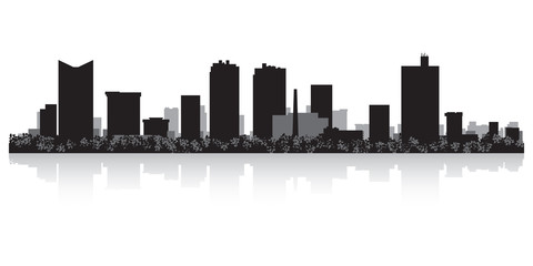 Fototapete - Fort Worth city skyline silhouette