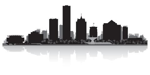 Wall Mural - Milwaukee city skyline silhouette