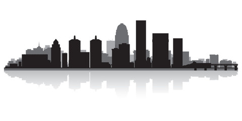 Louisville city skyline silhouette
