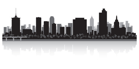 Wall Mural - Tulsa city skyline silhouette