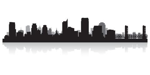 Wall Mural - Sacramento city skyline silhouette