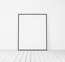 white poster in a bright room
