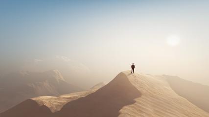 man in a desert Fotoväggar