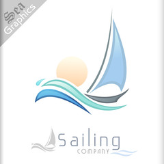 Sea Graphics Series - Sailing in Sun