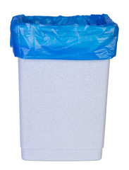 Empty bin isolated on white background