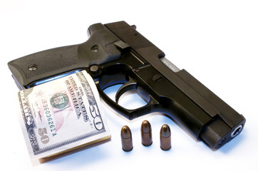 Gun, dollars and bullets