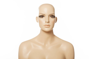 Head of a female mannequin face