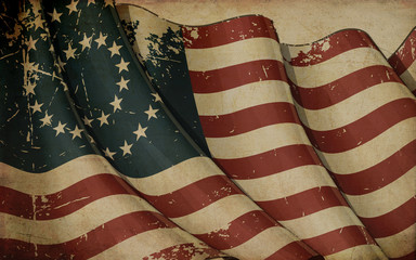 US Civil War Union -37 Star Medallion- Old Paper
