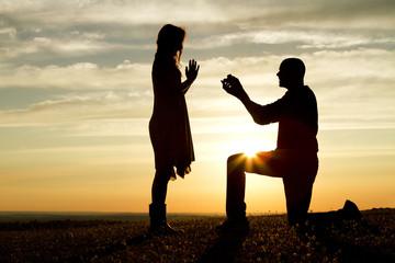 Obraz Sunset Proposal - fototapety do salonu