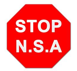 Stop N.S.A Schild