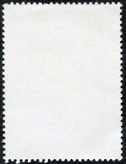 post stamps reverse side isolated on black
