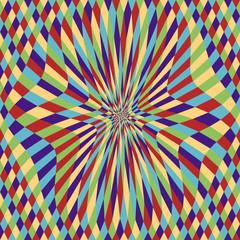 Mystic Diamond Disk (motion illusion)