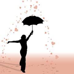 Rain Of Hearts - Background Illustration