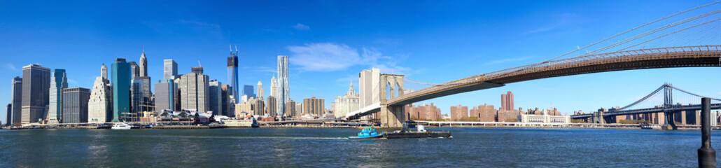 Tuinposter Brooklyn Bridge Manhattan panorama and Brooklyn Bridge, New York City