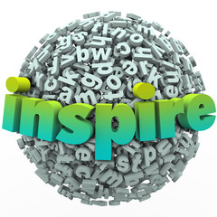 Inspire Word 3D Letter Sphere Ball Motivational Education