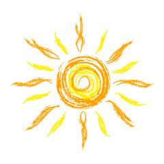 sun, scetch