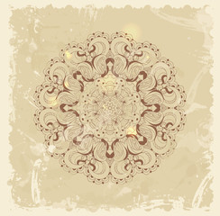 Beautiful vintage arabesque lace vector