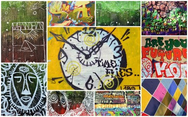 Canvas Prints Graffiti collage graffiti