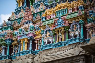 Gopurams of the Meenakshi temple