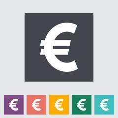 Euro flat icon.