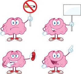 Brain Cartoon Mascot Collection 5