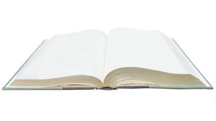a blank notebook open