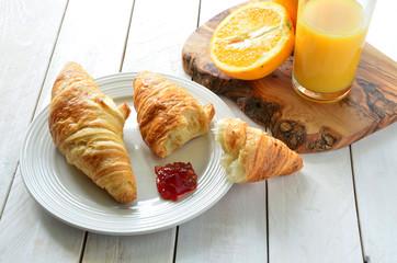 Croissant and Pure Orange