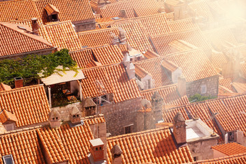 Closeup of Dubrovnik roofs