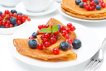breakfast with crepes and fresh berries