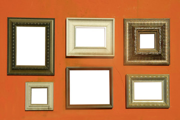 picture frames on wall