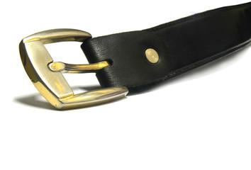 head of men black belt isolated