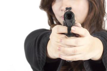 Woman Hand with Gun