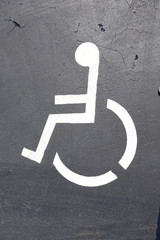 disabled sign at a parking lot