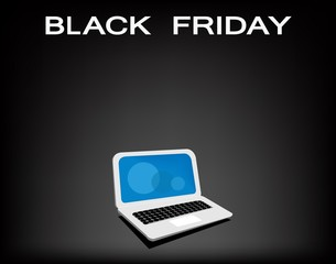A Mobile Computer on Black Friday Background