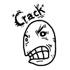 Crack rebel face