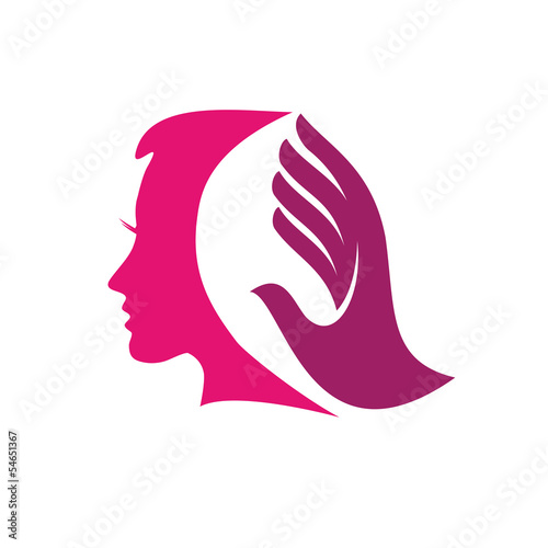 quotvector logo beauty hairquot stock image and royaltyfree