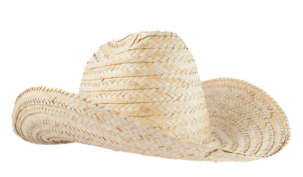 Straw hat isolated